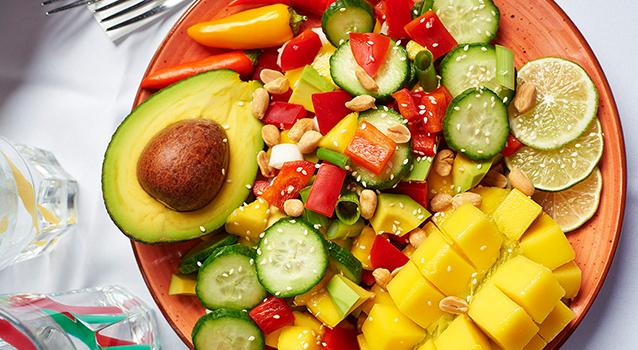 Mangó-avokádó salsa